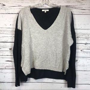 Madewell Hi-Lo V-Neck Cropped Sweater Medium